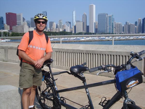 Ron cycling in Chicago