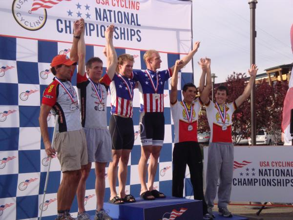 Mens Tandem on Podium